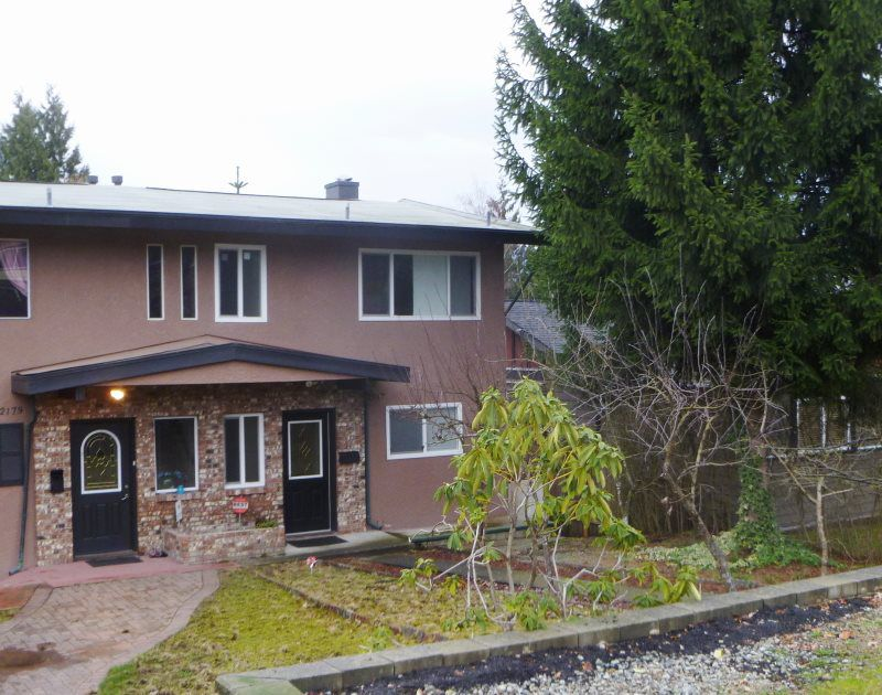 Main Photo: 2177 PITT RIVER Road in Port Coquitlam: Central Pt Coquitlam House 1/2 Duplex for sale : MLS®# R2035769