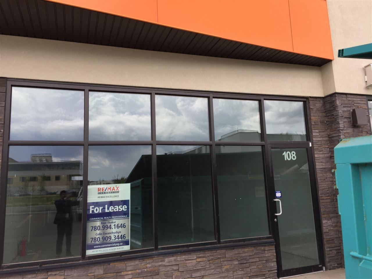 Main Photo: 108 1803 91 street in Edmonton: Zone 53 Retail for sale : MLS®# E4133578
