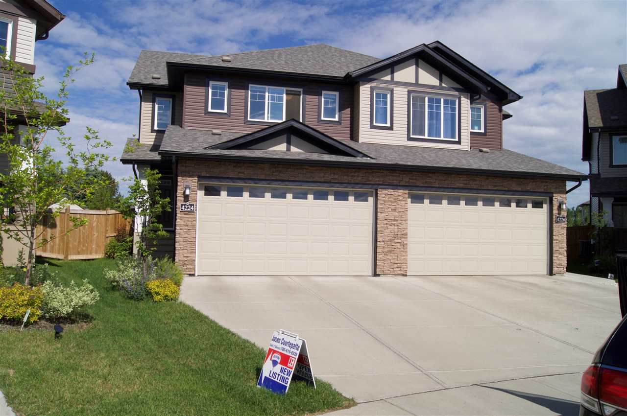 Main Photo: 4224 204 Street in Edmonton: Zone 57 House Half Duplex for sale : MLS®# E4161928