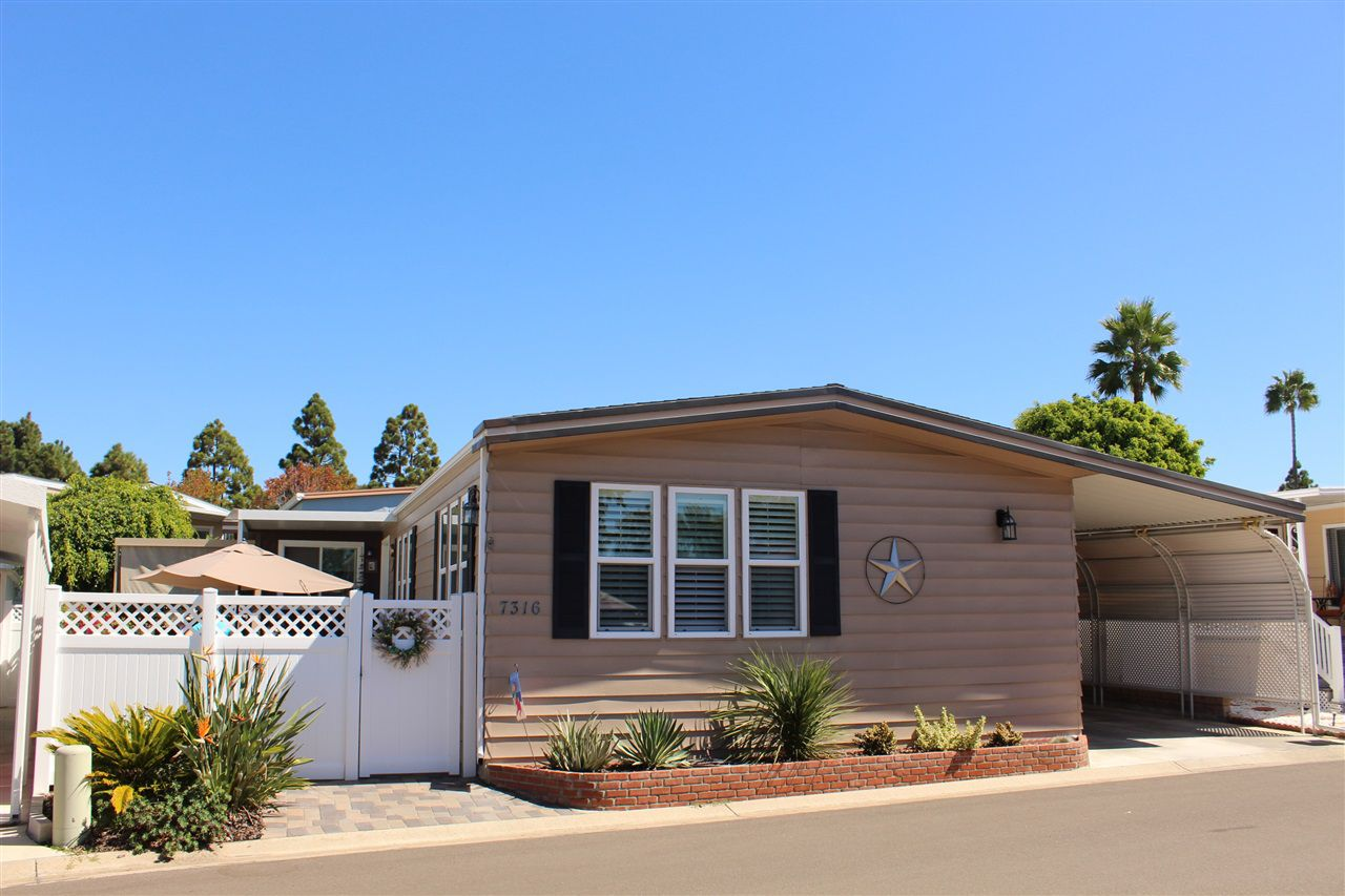 Main Photo: CARLSBAD SOUTH Manufactured Home for sale : 3 bedrooms : 7316 San Benito #363 in Carlsbad