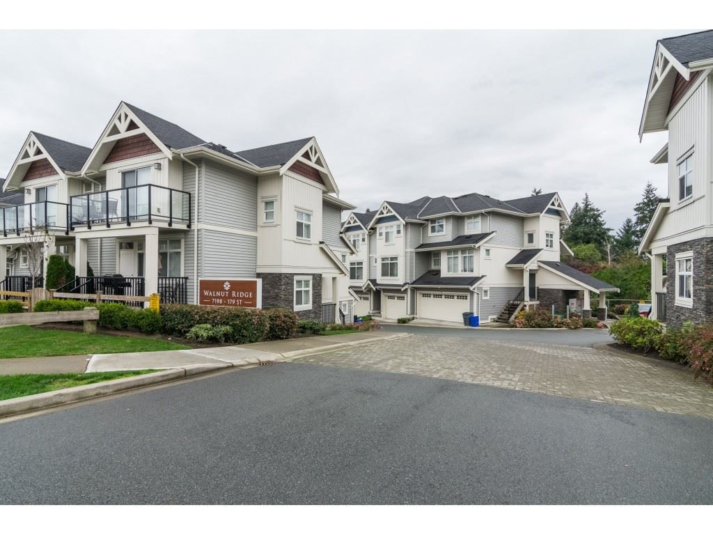 "Main Photo: 12 7198 179 Street in Surrey: Cloverdale BC Townhouse for sale in ""WALNUT RIDGE"" (Cloverdale)  : MLS®# R2352864"