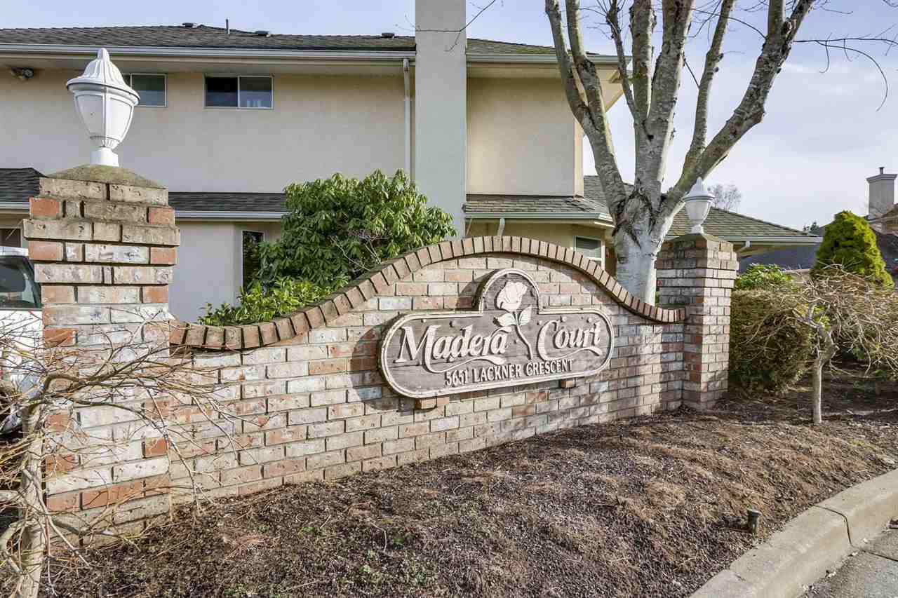 """Main Photo: 8 5651 LACKNER Crescent in Richmond: Lackner Townhouse for sale in """"MADERA COURT"""" : MLS®# R2335204"""