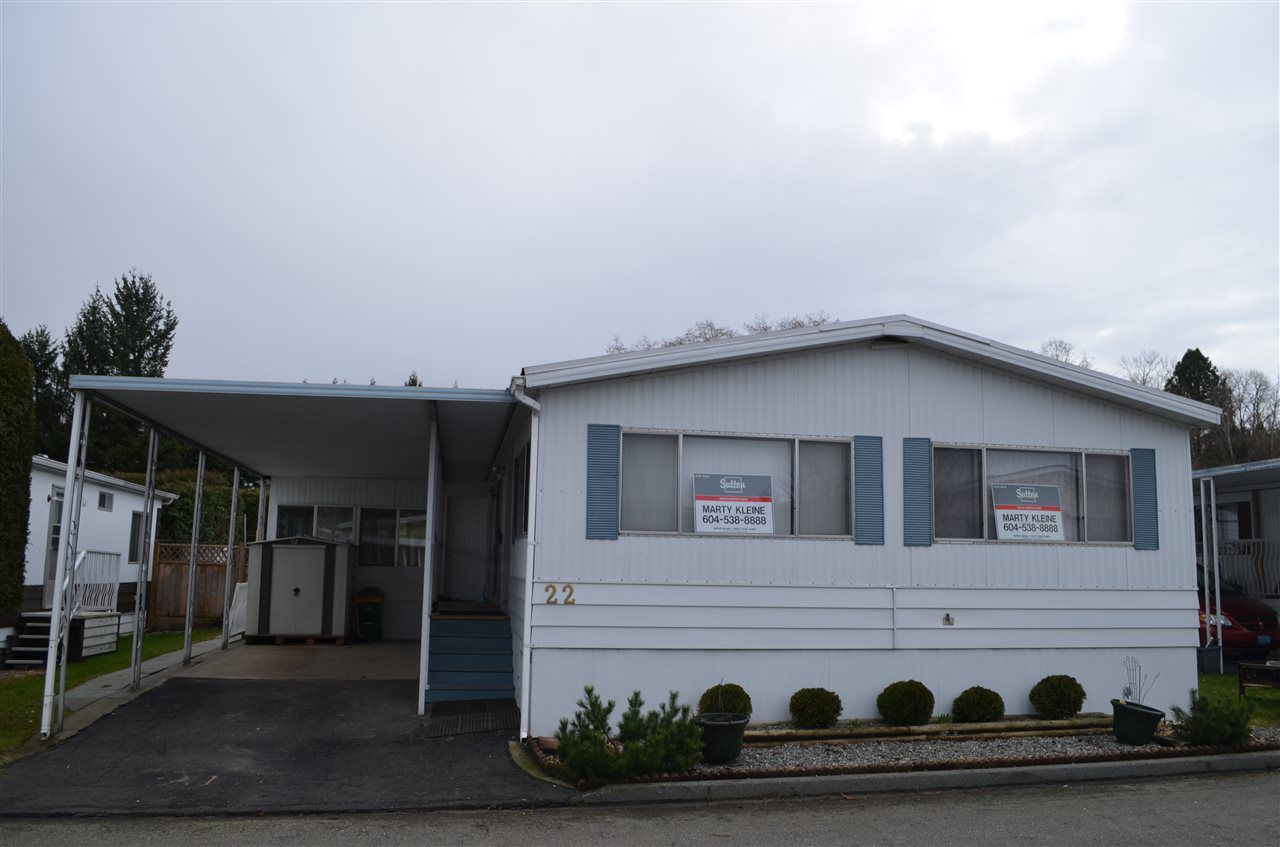 "Main Photo: 22 8254 134 Street in Surrey: Queen Mary Park Surrey Manufactured Home for sale in ""WESTWOOD ESTATES"" : MLS®# R2020567"