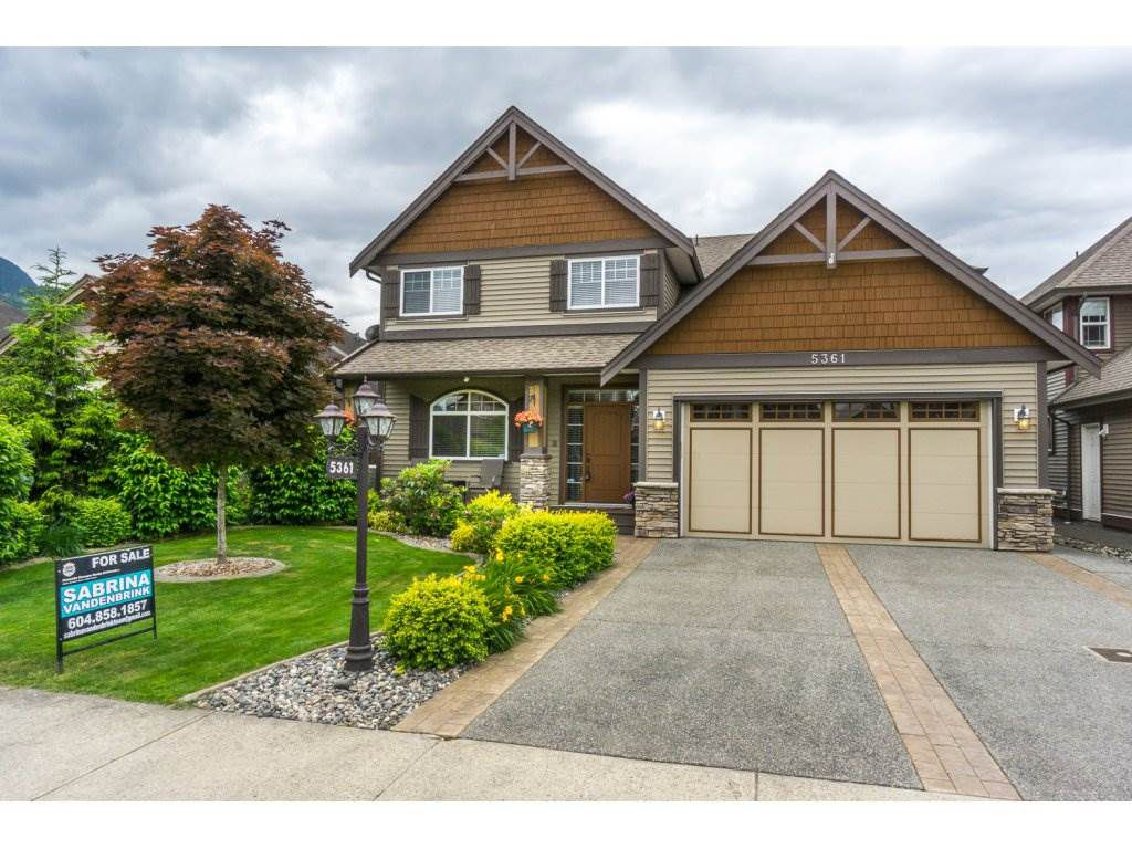 """Main Photo: 5361 CHINOOK Street in Chilliwack: Vedder S Watson-Promontory House for sale in """"WEBSTERS LANDING"""" (Sardis)  : MLS®# R2176809"""