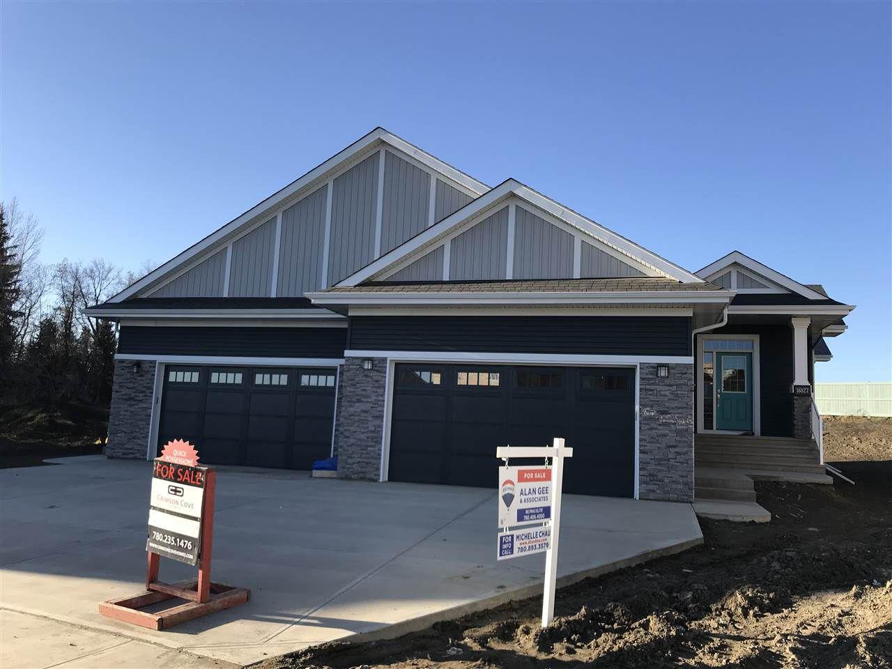 Main Photo: 16827 18 Avenue in Edmonton: Zone 56 House Half Duplex for sale : MLS®# E4137360