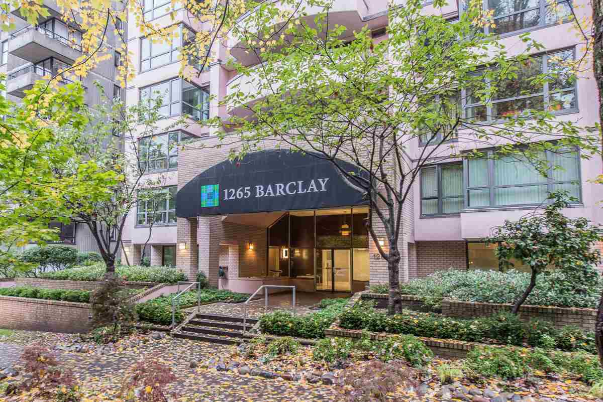 """Main Photo: 803 1265 BARCLAY Street in Vancouver: West End VW Condo for sale in """"THE DORECHESTER"""" (Vancouver West)  : MLS®# R2012013"""