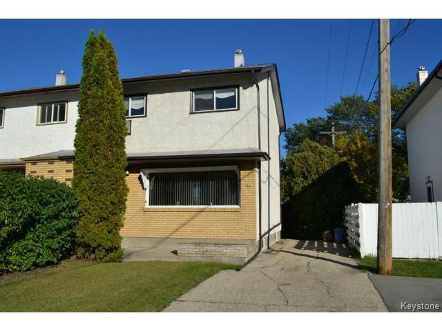 Main Photo: 62 Canberra Road in WINNIPEG: Windsor Park / Southdale / Island Lakes Residential for sale (South East Winnipeg)  : MLS®# 1321852