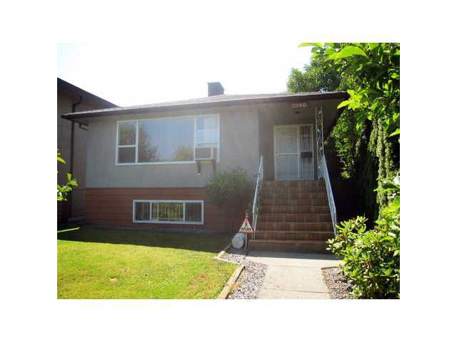 Main Photo: 2940 CHARLES Street in Vancouver: Renfrew VE House for sale (Vancouver East)  : MLS®# V978797
