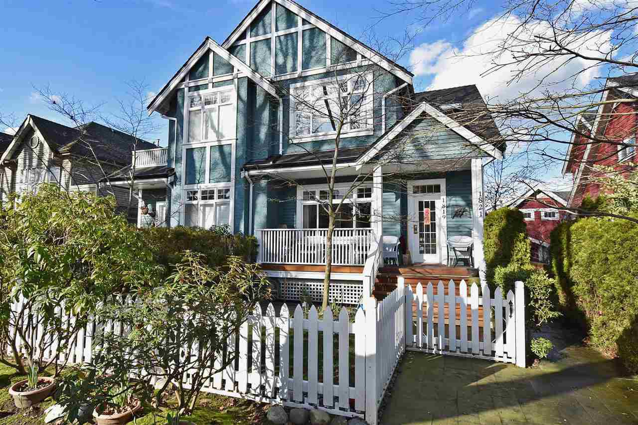 Main Photo: 1819 W 11TH Avenue in Vancouver: Kitsilano Townhouse for sale (Vancouver West)  : MLS®# R2043324