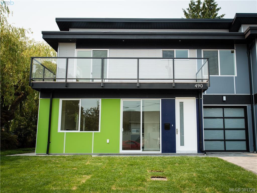 Main Photo: 490 South Joffre Street in VICTORIA: Es Saxe Point Strata Duplex Unit for sale (Esquimalt)  : MLS®# 381729