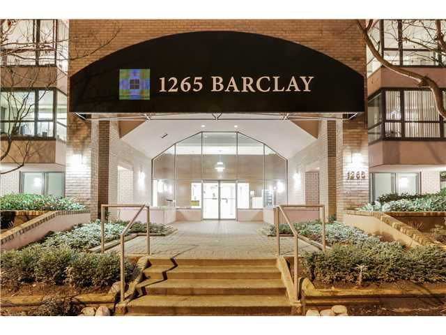 """Main Photo: 1002 1265 BARCLAY Street in Vancouver: West End VW Condo for sale in """"1265 Barclay"""" (Vancouver West)  : MLS®# V1103269"""