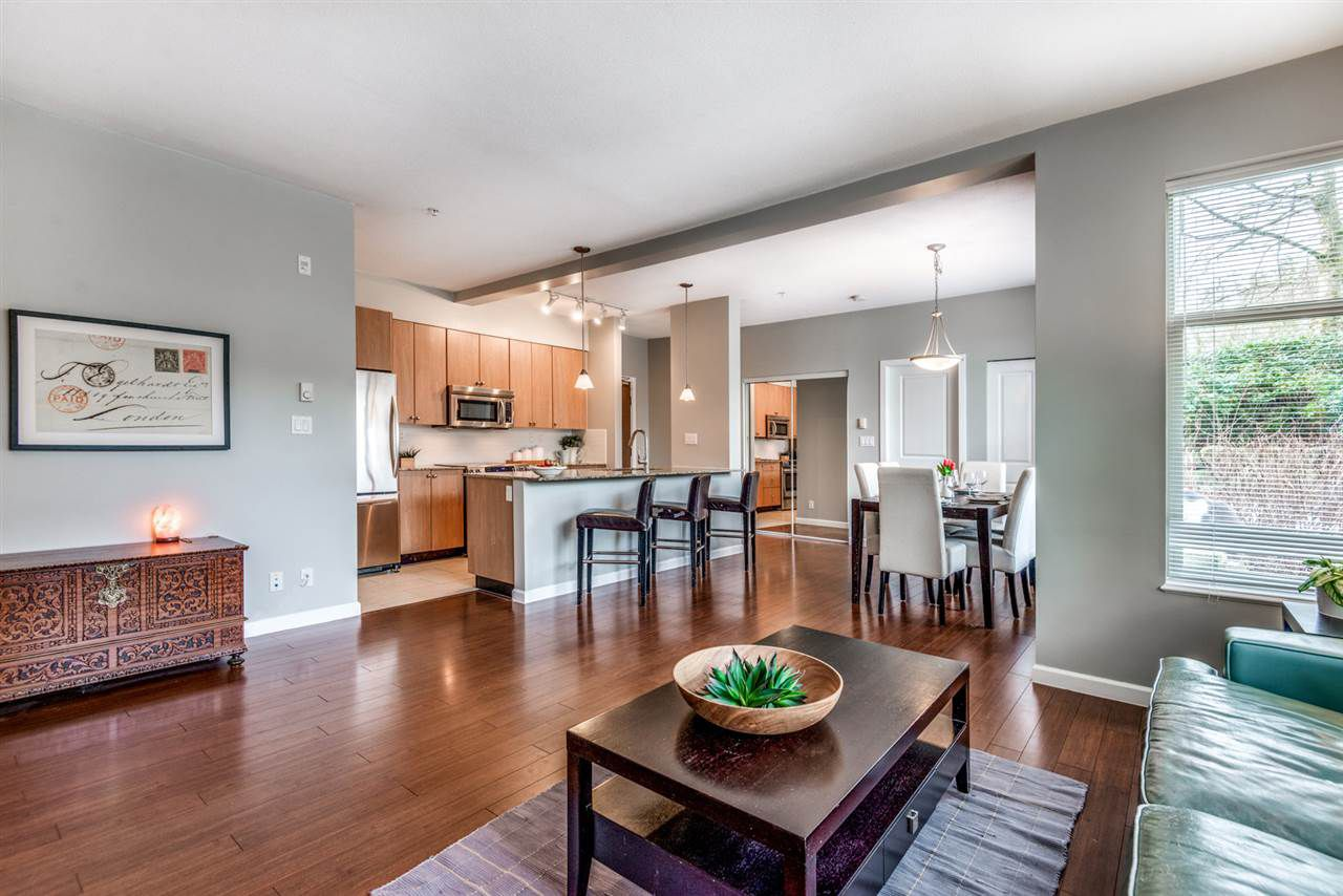 """Main Photo: 107 290 FRANCIS Way in New Westminster: Fraserview NW Condo for sale in """"The Grove"""" : MLS®# R2372872"""