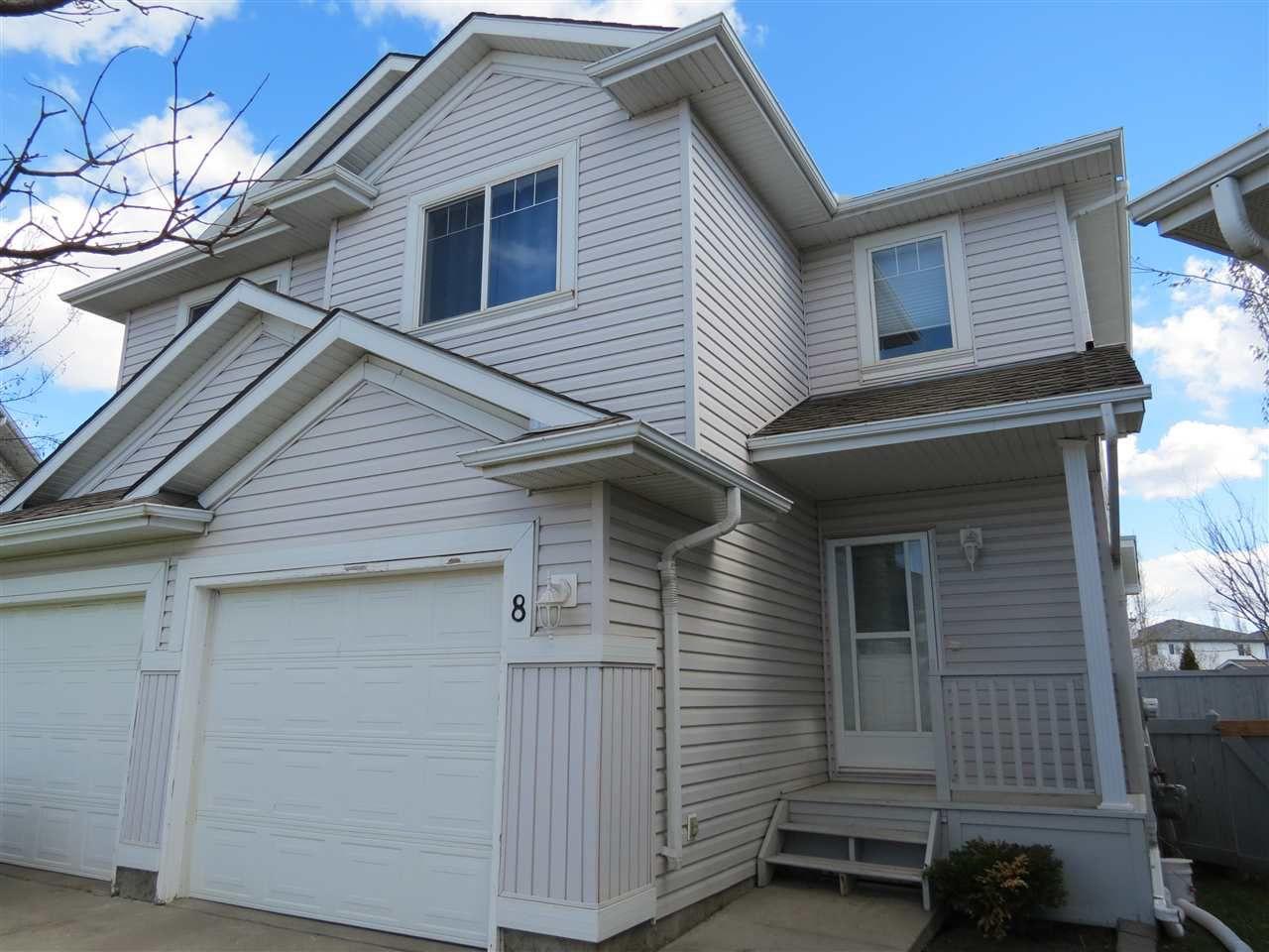 Main Photo: 8 13403 Cumberland Road in Edmonton: Zone 27 House Half Duplex for sale : MLS®# E4143411