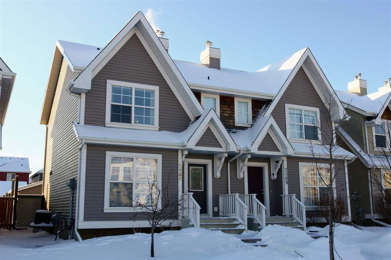 Main Photo: 7107 16 Avenue in Edmonton: Zone 53 House Half Duplex for sale : MLS®# E4143580