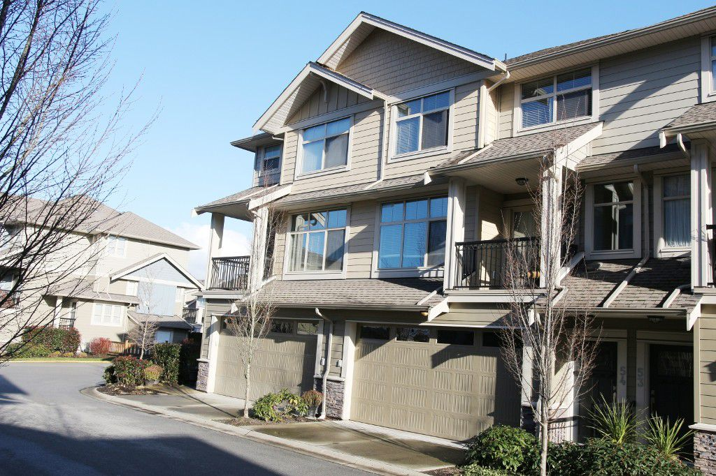 "Main Photo: 54 22225 50 Avenue in Langley: Murrayville Townhouse for sale in ""MURRAY'S LANDING"" : MLS®# R2024301"