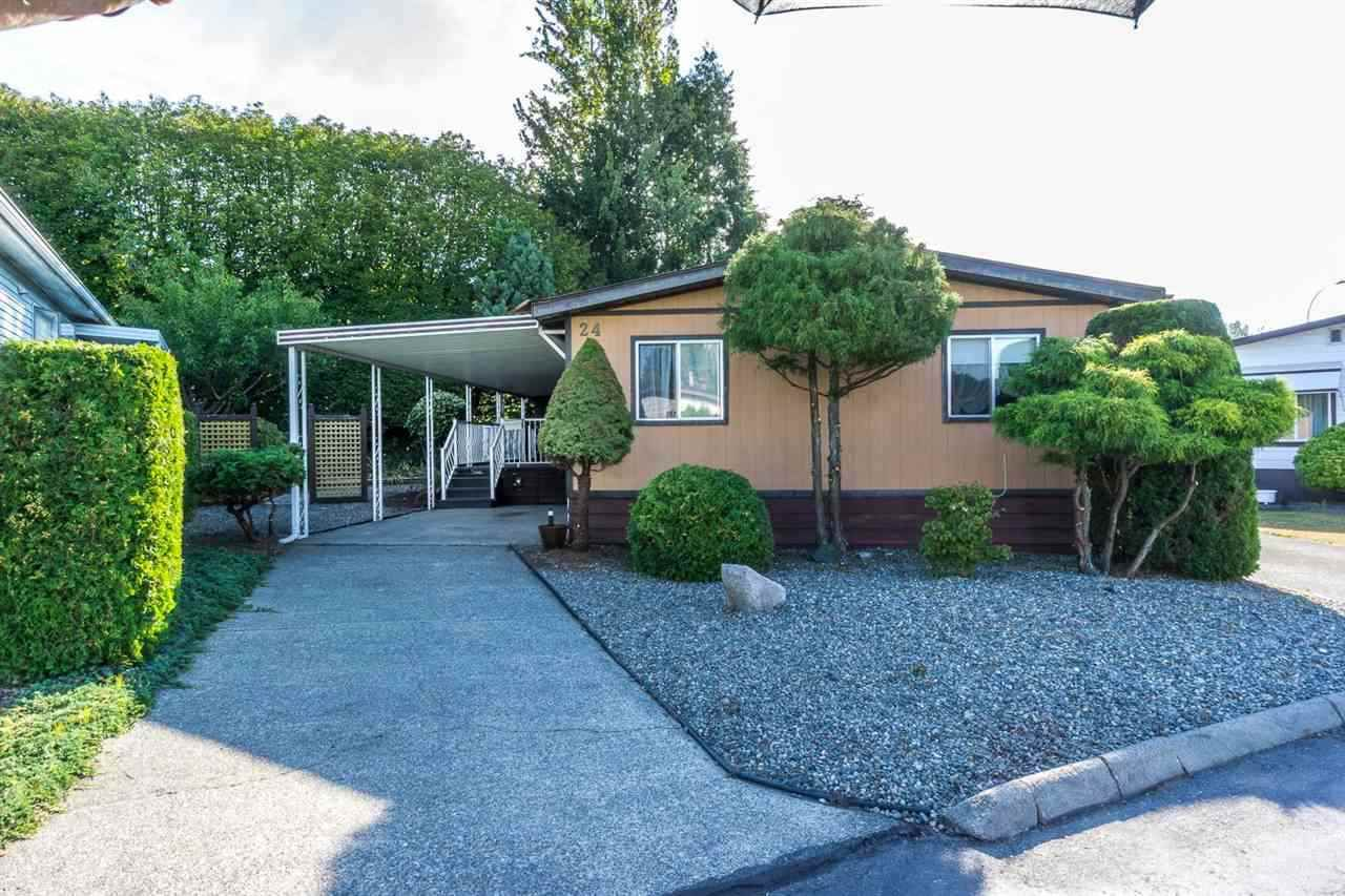 """Main Photo: 24 1640 162 Street in Surrey: King George Corridor Manufactured Home for sale in """"CHERRY BROOK PARK"""" (South Surrey White Rock)  : MLS®# R2129262"""
