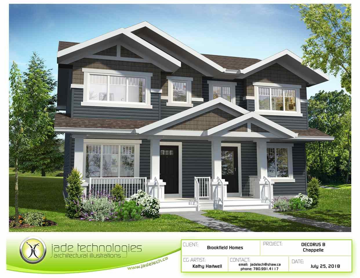 Main Photo: 4339 Cooke Lane in Edmonton: Zone 55 House Half Duplex for sale : MLS®# E4159740
