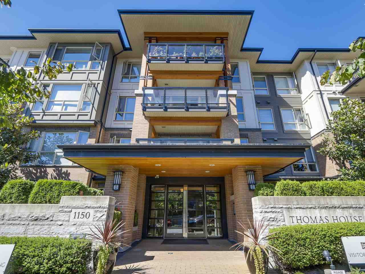 "Main Photo: 108 1150 KENSAL Place in Coquitlam: New Horizons Condo for sale in ""Windsor Gate"" : MLS®# R2102595"
