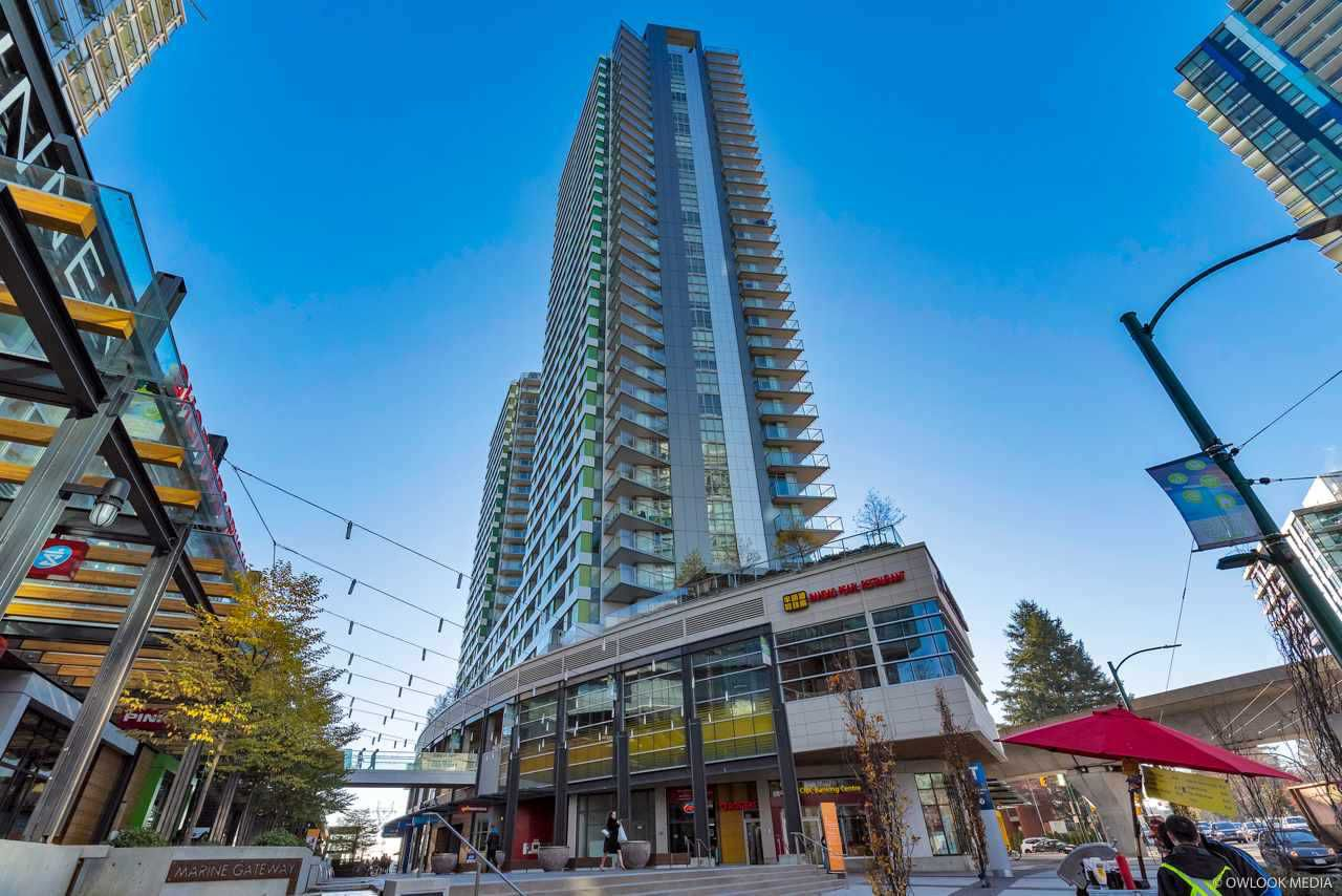 "Main Photo: 2703 488 SW MARINE Drive in Vancouver: Marpole Condo for sale in ""MARINE GATEWAY"" (Vancouver West)  : MLS®# R2345365"