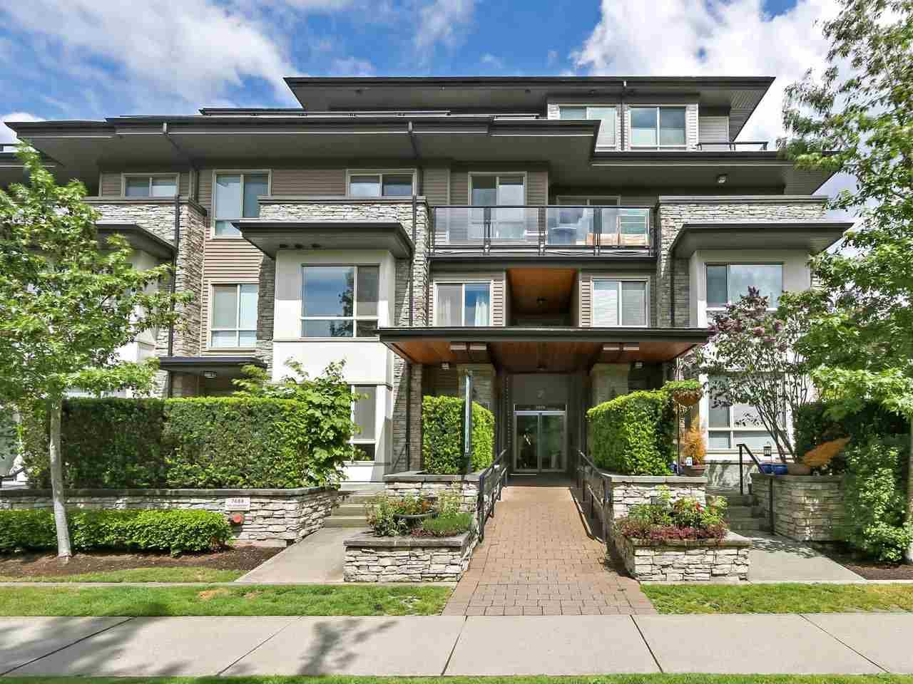 "Main Photo: 106 7488 BYRNEPARK Walk in Burnaby: South Slope Condo for sale in ""GREEN BY ADERA"" (Burnaby South)  : MLS®# R2385440"