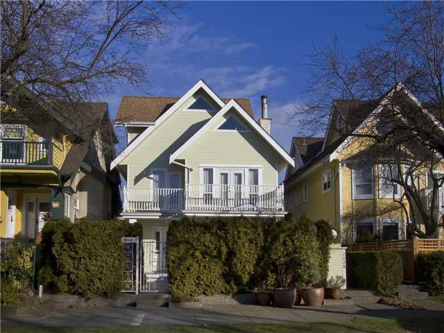 Main Photo: 1839 CREELMAN Avenue in Vancouver: Kitsilano House 1/2 Duplex for sale (Vancouver West)  : MLS®# V1047236