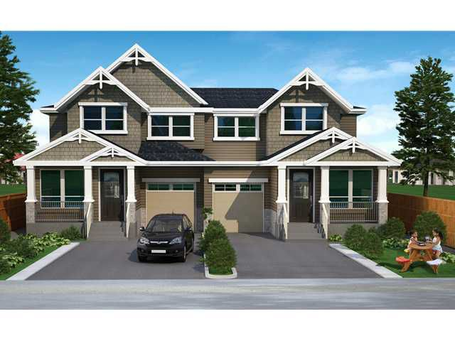 "Main Photo: 19420 117TH Avenue in Pitt Meadows: South Meadows House 1/2 Duplex for sale in ""BONSON PARKS"" : MLS®# V1055980"