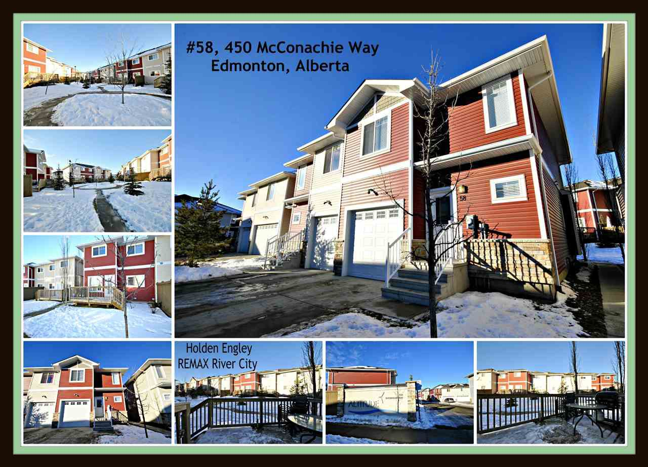 Main Photo: 58 450 MCCONACHIE Way in Edmonton: Zone 03 Townhouse for sale : MLS®# E4139114