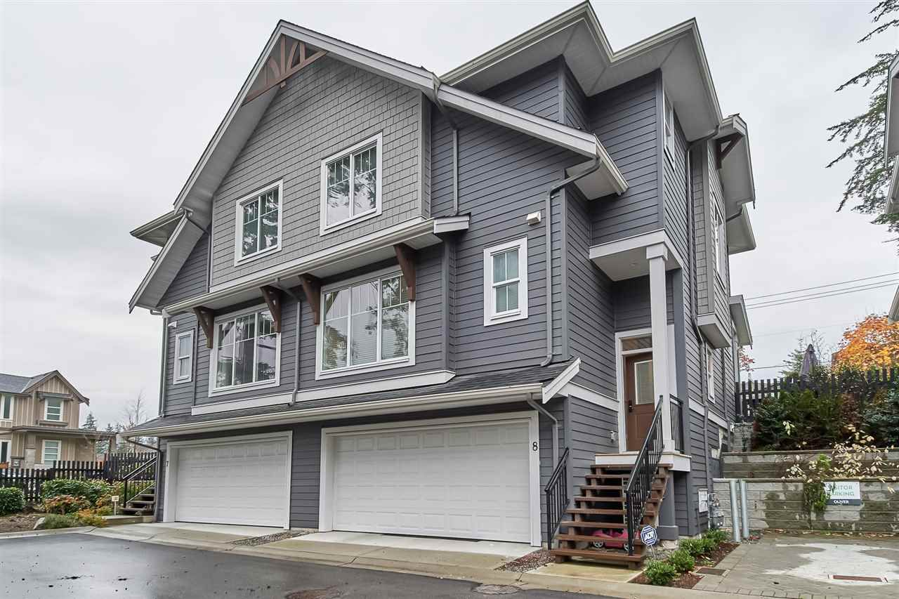 """Main Photo: 8 2855 158 Street in Surrey: Grandview Surrey Townhouse for sale in """"OLIVER"""" (South Surrey White Rock)  : MLS®# R2321680"""