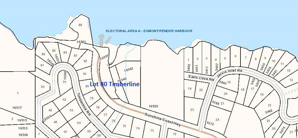 Main Photo: LOT 80 TIMBERLINE Road in Egmont: Pender Harbour Egmont Home for sale (Sunshine Coast)  : MLS®# R2360024
