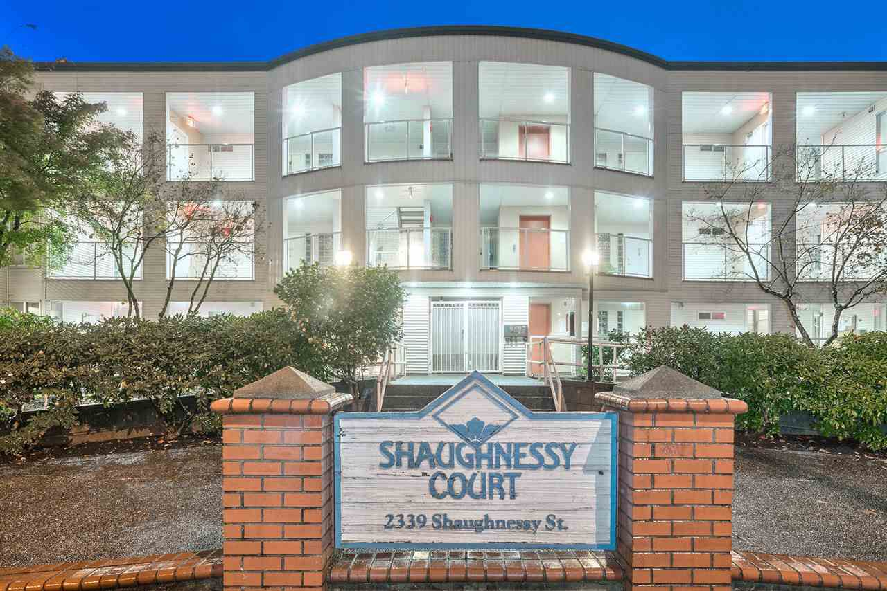 """Main Photo: 107 2339 SHAUGHNESSY Street in Port Coquitlam: Central Pt Coquitlam Condo for sale in """"Shaughnessy Court"""" : MLS®# R2321182"""