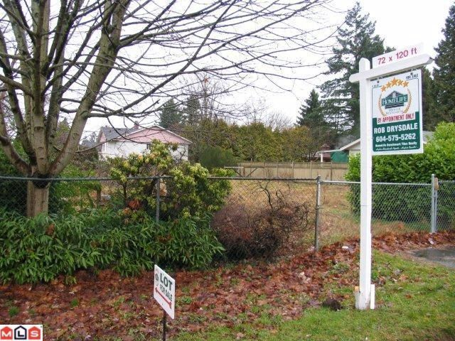 Main Photo: 14565 108TH Avenue in Surrey: Bolivar Heights Land for sale (North Surrey)  : MLS®# F1200041
