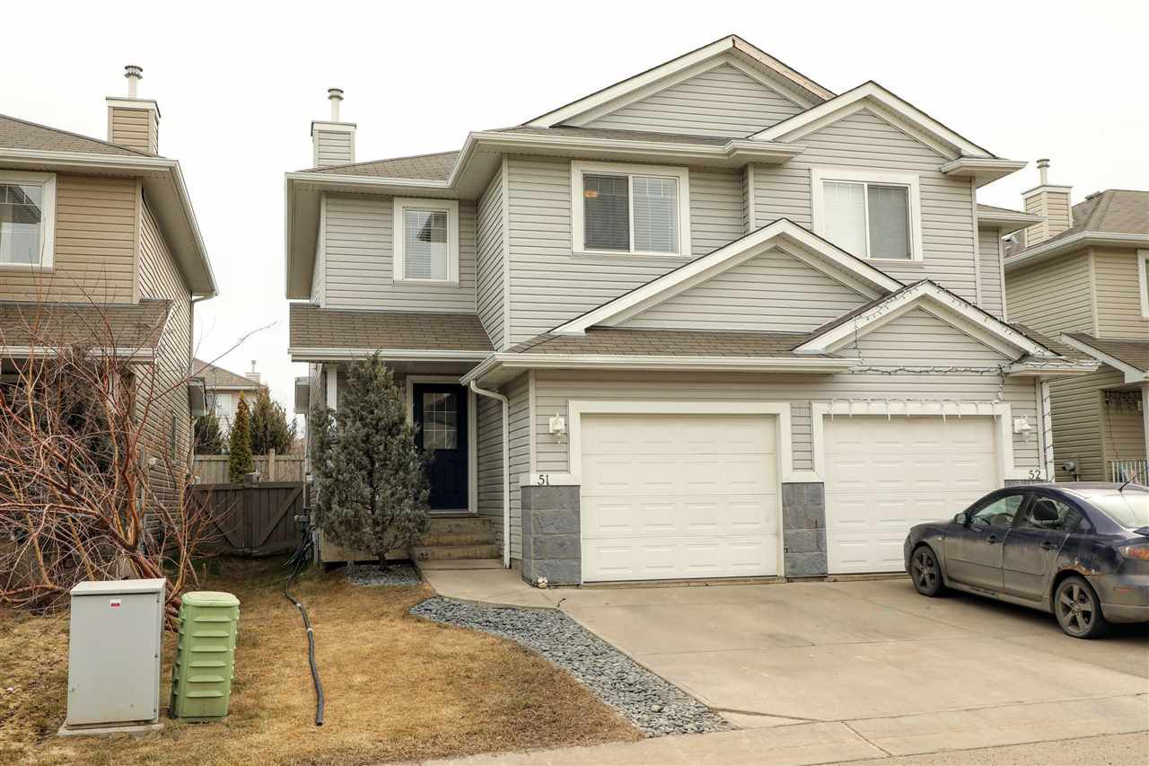 Main Photo: 51 287 MACEWAN Road in Edmonton: Zone 55 House Half Duplex for sale : MLS®# E4153254