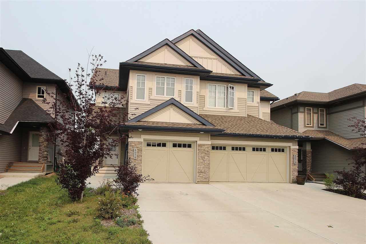 Main Photo: 4075 ALLAN Crescent in Edmonton: Zone 56 House Half Duplex for sale : MLS®# E4125441