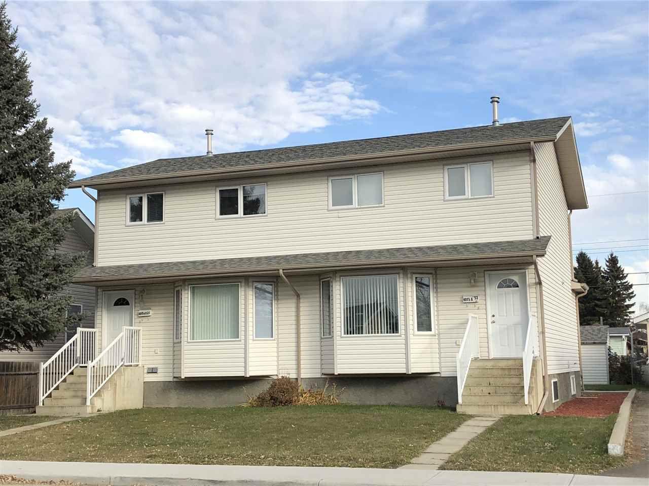 Main Photo: A 4015 53 Street: Wetaskiwin House Half Duplex for sale : MLS®# E4150610