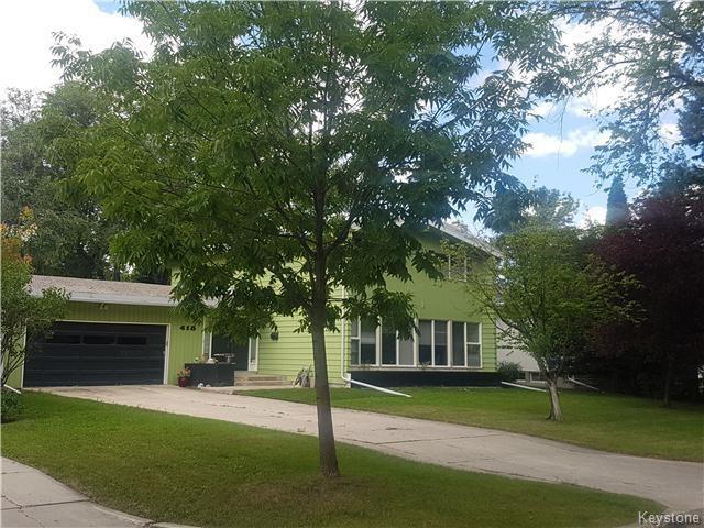 Main Photo: 418 Kelvin Boulevard in Winnipeg: Tuxedo Residential for sale (1E)  : MLS®# 1621812