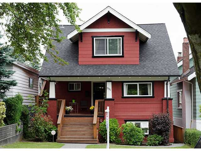 Main Photo: 981 W 21ST Avenue in Vancouver: Cambie House for sale (Vancouver West)  : MLS®# V899279