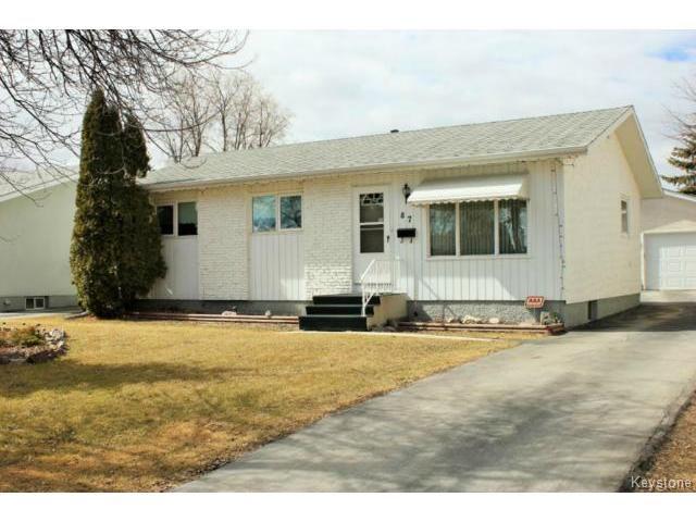 Main Photo: 87 Brian Street in WINNIPEG: North Kildonan Residential for sale (North East Winnipeg)  : MLS®# 1507604