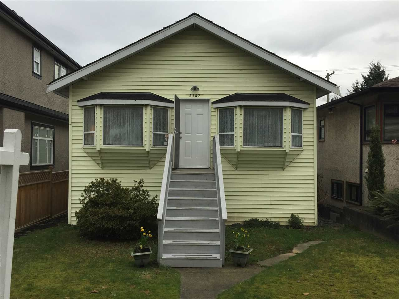 Main Photo: 2587 E 28 Avenue in Vancouver: Collingwood VE House for sale (Vancouver East)  : MLS®# R2036060