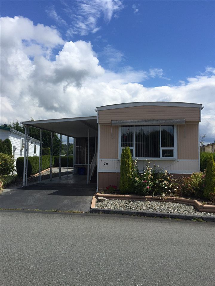 "Main Photo: 16 15875 20 Avenue in Surrey: King George Corridor Manufactured Home for sale in ""Sea Ridge Bays"" (South Surrey White Rock)  : MLS®# R2090521"
