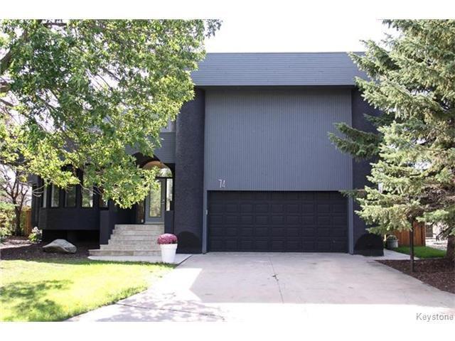 Main Photo: 74 Hopwood Drive in Winnipeg: Tuxedo Residential for sale (1E)  : MLS®# 1700022