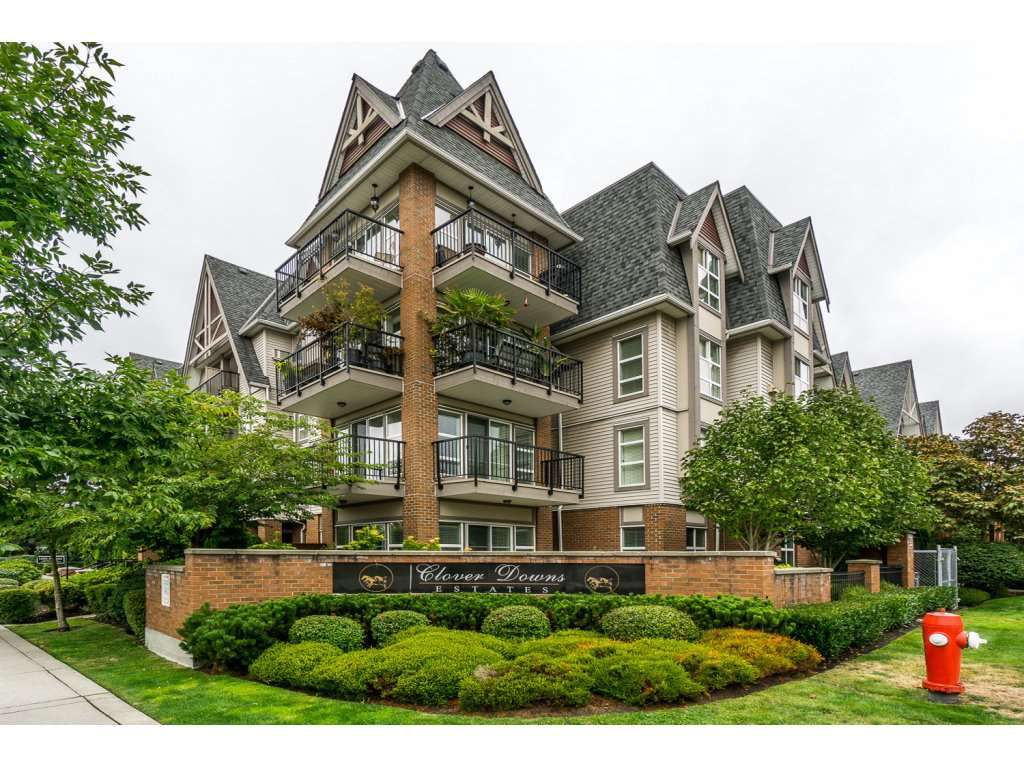 """Main Photo: 324 17769 57TH Avenue in Surrey: Cloverdale BC Condo for sale in """"CLOVER DOWNS ESTATES"""" (Cloverdale)  : MLS®# R2204969"""