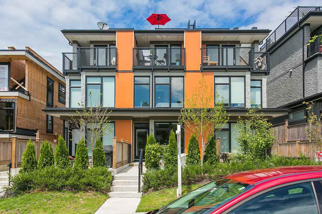 "Main Photo: 3 1851 ADANAC Street in Vancouver: Hastings Townhouse for sale in ""ADANAC 2"" (Vancouver East)  : MLS®# R2077574"