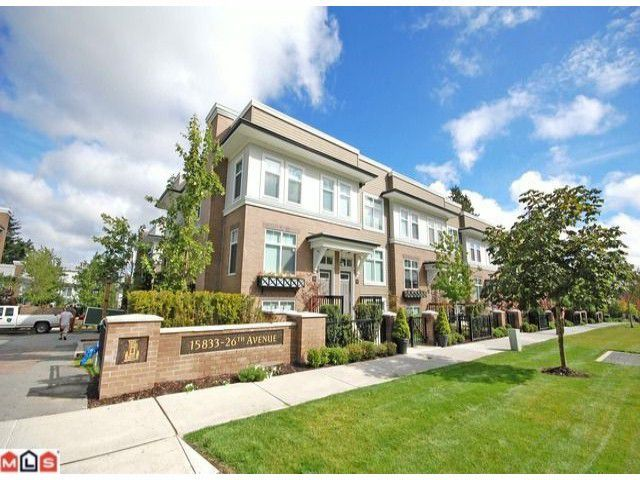 Main Photo: 66 15833 26 Avenue in Surrey: White Rock Townhouse for sale : MLS®# F1103281