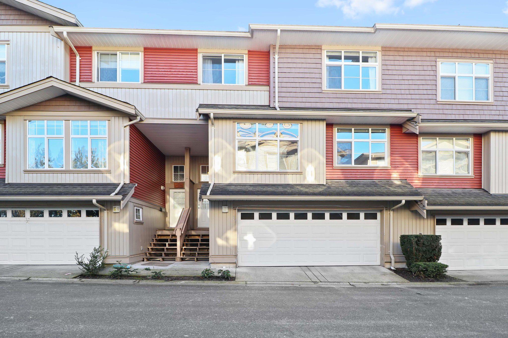 "Main Photo: 37 7518 138 Street in Surrey: East Newton Townhouse for sale in ""Greyhawk"" : MLS®# R2332671"