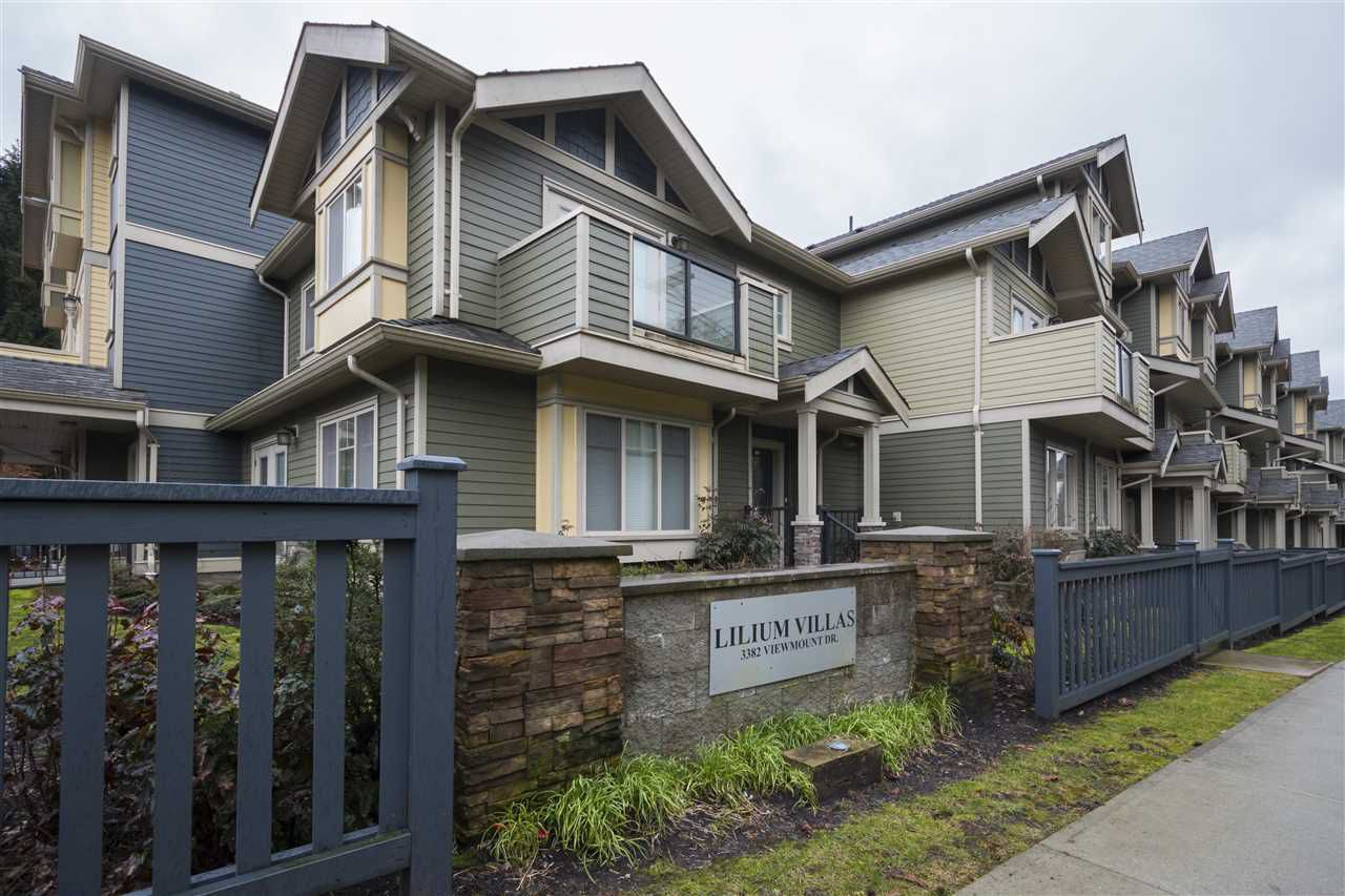 Main Photo: 123 3382 VIEWMOUNT Drive in Port Moody: Port Moody Centre Townhouse for sale : MLS®# R2148031