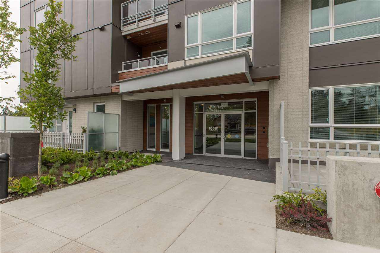 """Main Photo: 319 10581 140 Street in Surrey: Whalley Condo for sale in """"HQ Thrive"""" (North Surrey)  : MLS®# R2378394"""