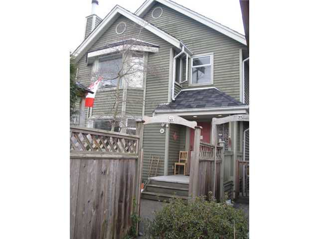 Main Photo: 31 W 15TH Avenue in Vancouver: Mount Pleasant VW House 1/2 Duplex for sale (Vancouver West)  : MLS®# V872929