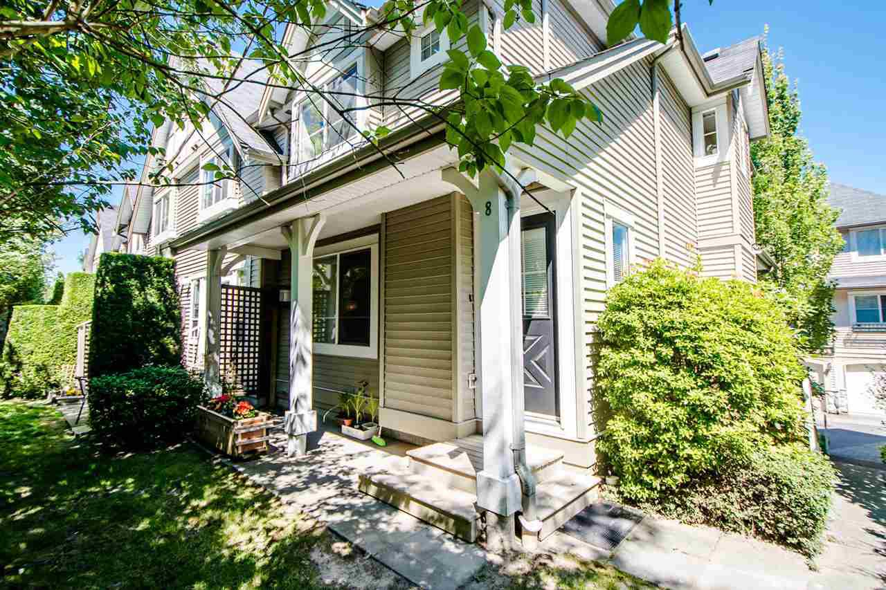 """Main Photo: 8 15488 101A Avenue in Surrey: Guildford Townhouse for sale in """"COBBLEFIELD LANE"""" (North Surrey)  : MLS®# R2094688"""