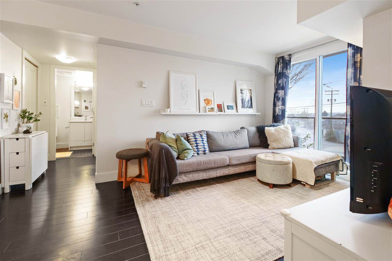 """Main Photo: 207 4338 COMMERCIAL Street in Vancouver: Victoria VE Condo for sale in """"TRIO"""" (Vancouver East)  : MLS®# R2348464"""