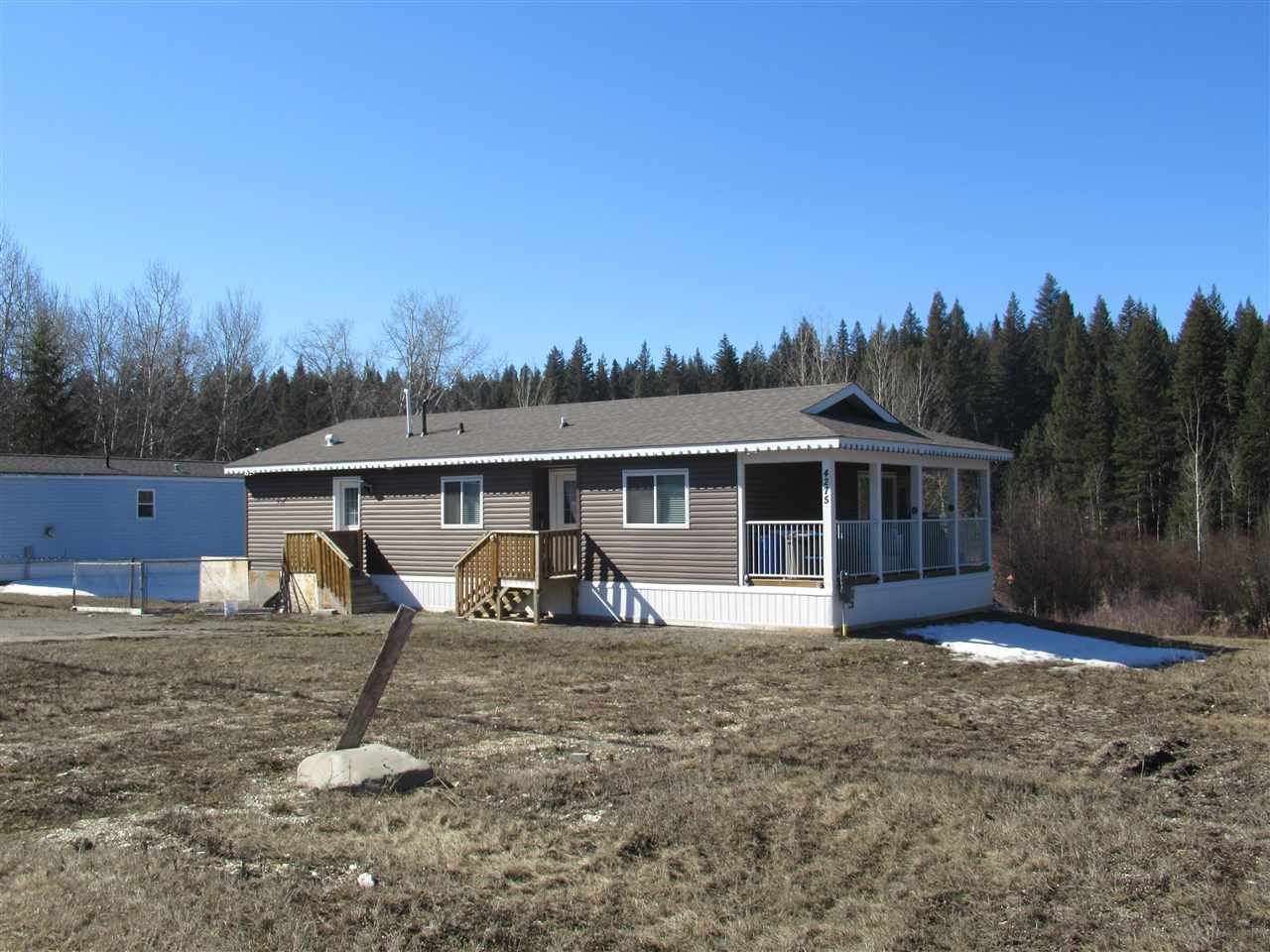"""Main Photo: 4275 N CLEAR Road in Williams Lake: Williams Lake - Rural North Manufactured Home for sale in """"WILDWOOD"""" (Williams Lake (Zone 27))  : MLS®# R2357935"""